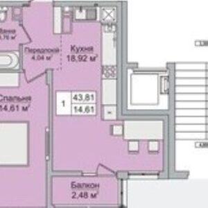Из 1-комнатной квартиры-полноценную 2х-комнатную!Продам по переуступке